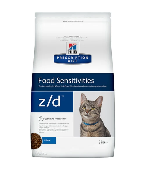 картинка Hill's Diet Feline z/d Low Allergen для кошек,при аллергии